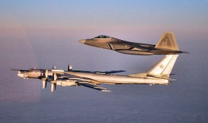 Russian bombers and fighter jets fly close to the U.S.A. and Canada